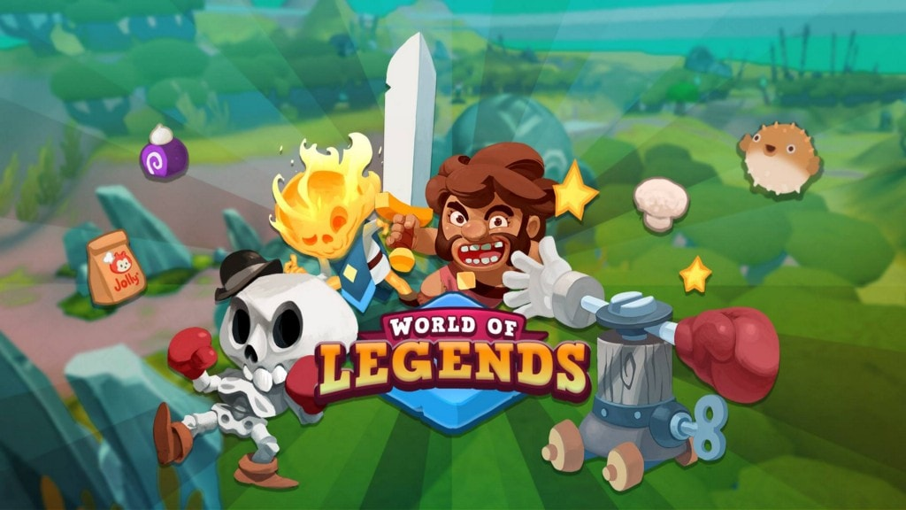 Logo and splash screen for casual mobile MMO World of Legends